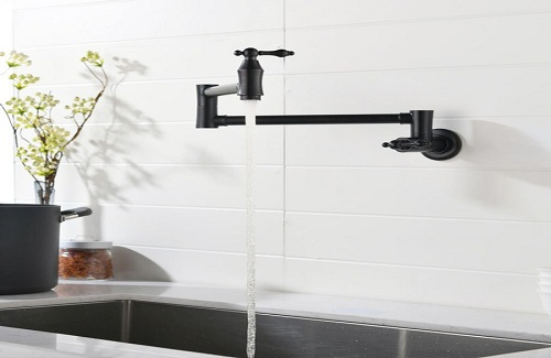 Wall-Mounted Kitchen Faucet